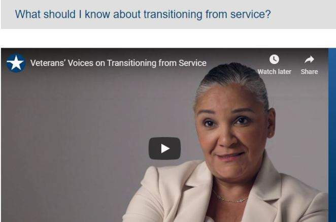 What should I know about transitioning from service?