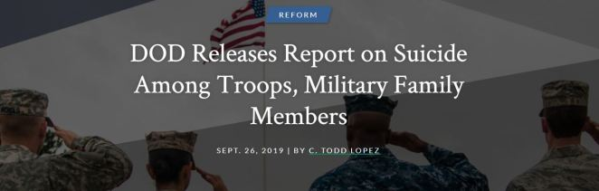 DOD Releases Report on Suicide Among Troops, Military Family Members