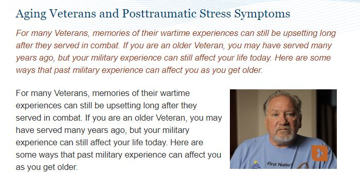Aging Veterans and Posttraumatic Stress Symptoms